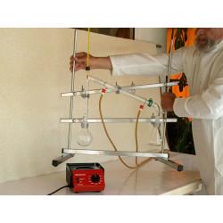 Exemple de mise en situation d'un support universel en laboratoire, matériel non fourni.