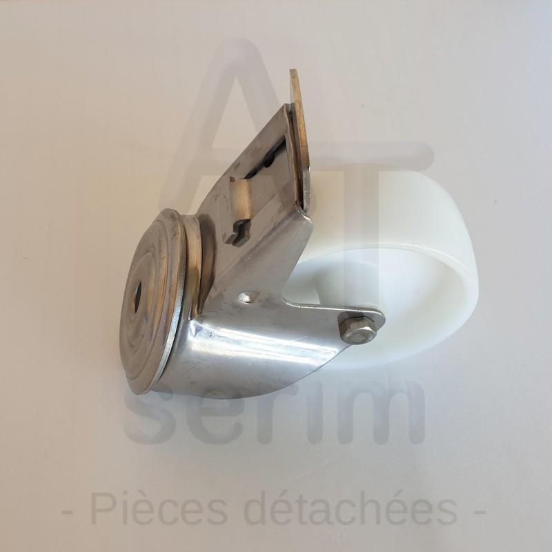 Roulette directionnelle avec frein pour table élévatrice inox